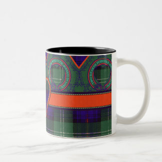 Keith clan Plaid Scottish tartan Two-Tone Coffee Mug