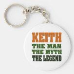 ¡KEITH - el hombre, el mito, la leyenda! Llavero Personalizado