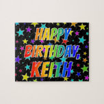 "[ Thumbnail: ""Keith"" First Name, Fun ""Happy Birthday"" Jigsaw Puzzle ]"