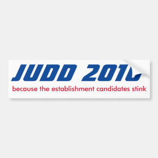 Keith Judd for President 2016 Car Bumper Sticker