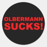 ¡Keith Olbermann chupa! Pegatina Redonda