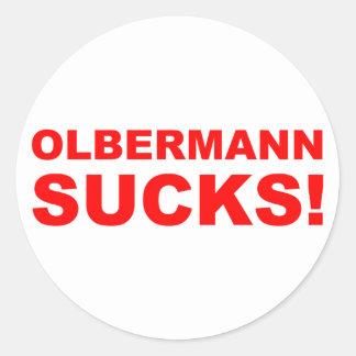 Keith Olbermann Sucks! Classic Round Sticker