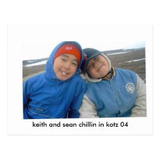 keith sean, keith and sean chillin in kotz 04 postcard