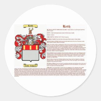 Keith (significado) pegatina redonda