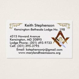 Keith Stephenson Business Card