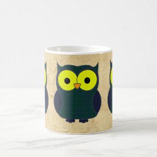 Keith Tartan Plaid Owl Classic White Coffee Mug