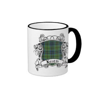 Keith Tartan Shield Ringer Coffee Mug