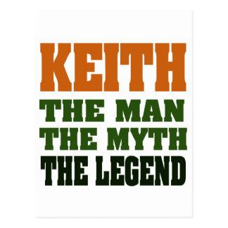KEITH - the Man, the Myth, the Legend! Postcard