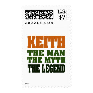 KEITH - the Man, the Myth, the Legend! Stamp