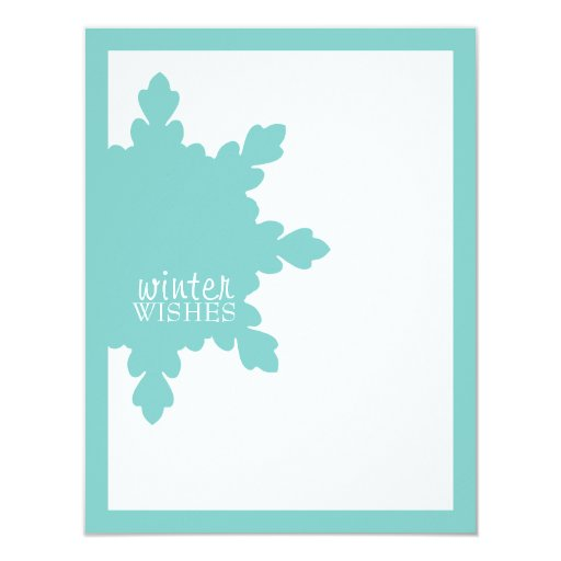 KeKe Winter Wishes Photo Card Custom Invites