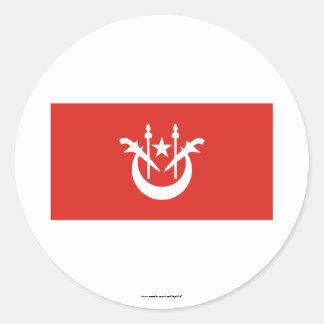 Kelantan flag classic round sticker