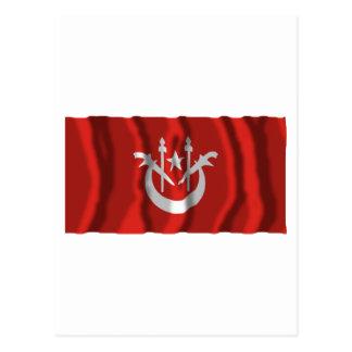 Kelantan waving flag postcard