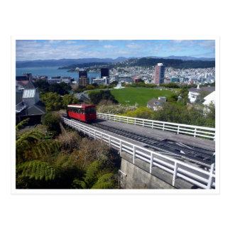 kelburn cable car postcard