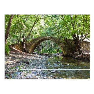 kelefos medieval bridge at Cyprus postcard