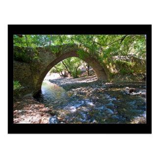 Kelefos medieval bridge in Cyprus forest Postcard