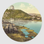 Kelheim y liberación Pasillo, vint de Baviera, Ale Pegatina Redonda