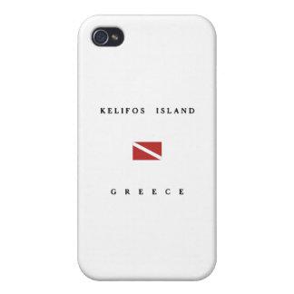 Kelifos Island Greece Scuba Dive Flag iPhone 4 Case