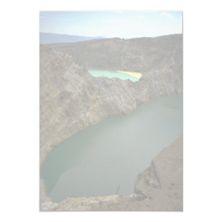 "Kelimutu Crater Lakes, Moni, Indonesia 5"" X 7"" Invitation Card"