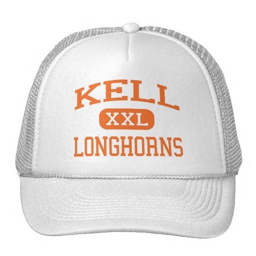 Kell - Longhorns - High School - Marietta Georgia Mesh Hats