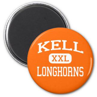 Kell - Longhorns - High School - Marietta Georgia 2 Inch Round Magnet