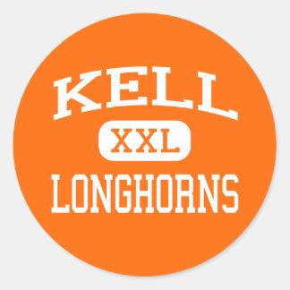 Kell - Longhorns - High School - Marietta Georgia Classic Round Sticker
