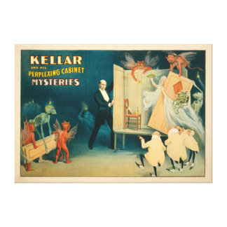 Kellar and his Perplexing Cabinet Mysteries Magi Stretched Canvas Print