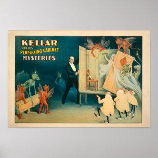 Kellar and his Perplexing Cabinet Mysteries Magi Poster