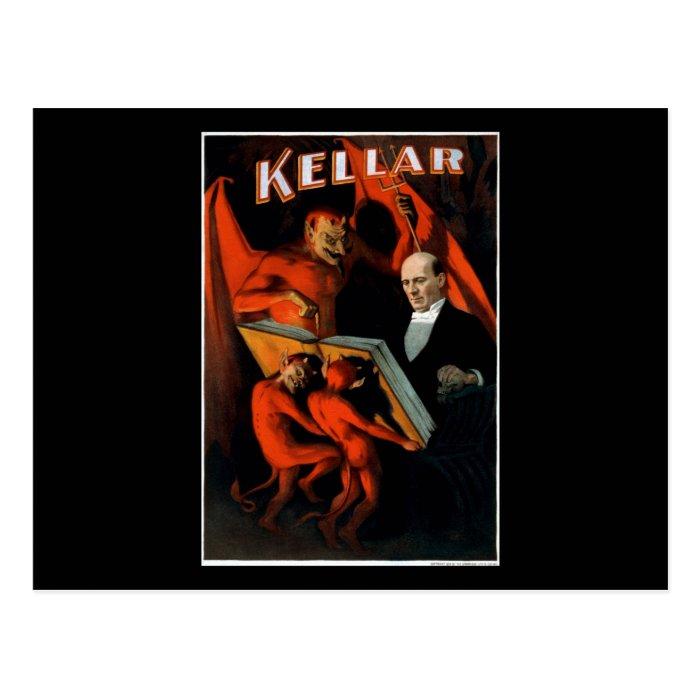 Kellar and his servants postcard