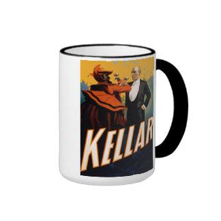 """Kellar - """"bebida con taza de café del diablo"""""""