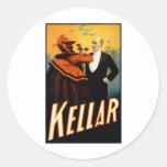 Kellar - bebidas con el diablo pegatina redonda