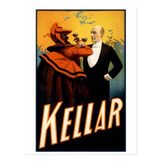 Kellar - bebidas con el diablo postal
