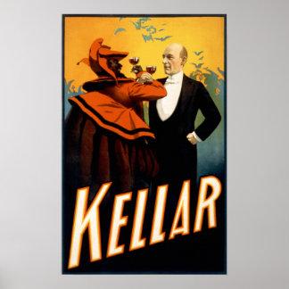 Kellar - bebidas con el diablo póster