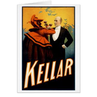 Kellar - bebidas con el diablo tarjeta de felicitación