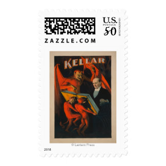 Kellar Devil and Demons with Magic Book Poster Postage
