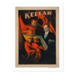 Kellar Devil and Demons with Magic Book Poster Postcards