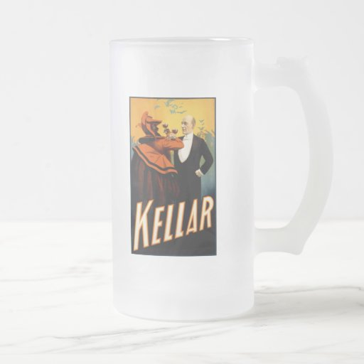 Kellar - Drinks with the Devil 16 Oz Frosted Glass Beer Mug