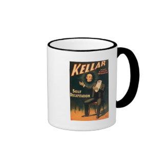 Kellar el mago - degollación del uno mismo - vinta taza a dos colores