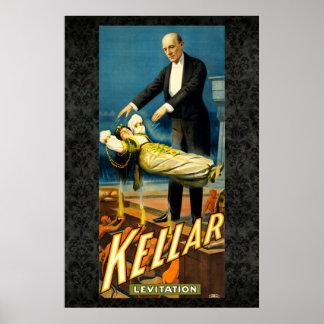 Kellar el poster del vintage 36 x 24 de la reedici