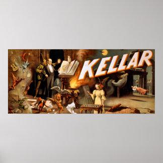 Kellar el poster del vintage del mago - paranormal