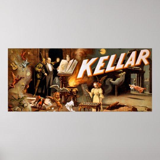 Kellar el poster del vintage del mago - paranormal póster