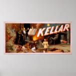 Kellar en un cuarto por completo del poster mágico