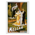Kellar ~ Gone Magician Vintage Magic Act Greeting Card