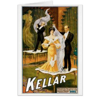 Kellar ~ Gone Magician Vintage Magic Act Card