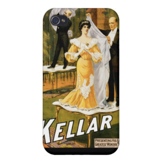 Kellar ~ Gone Magician Vintage Magic Act Case For iPhone 4