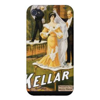 Kellar ~ Gone Magician Vintage Magic Act iPhone 4/4S Cases