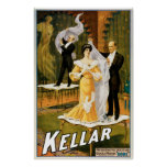 Kellar ~ Gone Magician Vintage Magic Act Poster