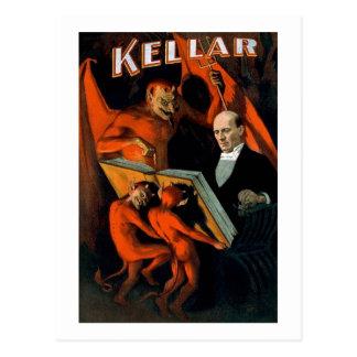 Kellar la magia del vintage del mago tarjeta postal