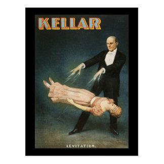 Kellar Levitation 2 Postcard