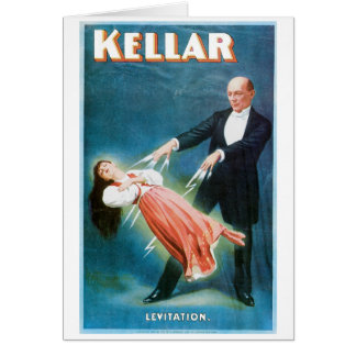 Kellar ~ Levitation Magician Vintage Magic Act Card