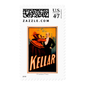 Kellar Magician Drinking Wine with the Devil Postage